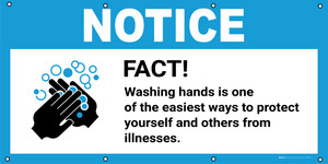 Notice: Fact Washing Hands Is One Of The Easiest Ways To Protect Yourself with Icon - Banner
