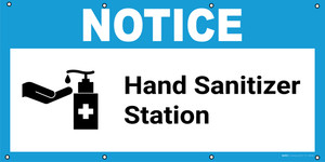 Notice: Hand Sanitizer Station with Icon - Banner