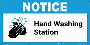 Notice: Hand Washing Station with Icon - Banner