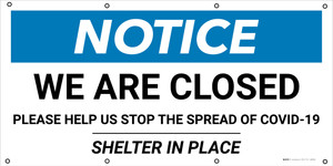 Notice: We Are Closed - Banner