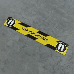 Keep Your Distance Feet - Social Distancing Strip