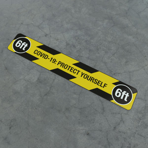 Covid-19: Protect Yourself 6Ft - Social Distancing Strip