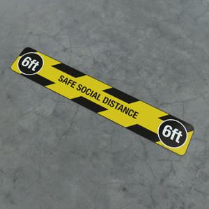 Safe Social Distance 6Ft - Social Distancing Strip