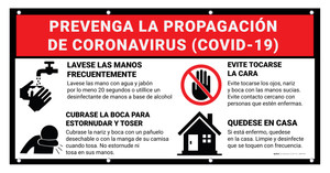 Prevent the Spread of Coronavirus - COVID-19 Spanish - Banner