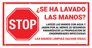 STOP: Did You Wash Your Hands Spanish - Banner