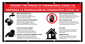 Prevent the Spread of Coronavirus - COVID-19 Bilingual Spanish - Banner