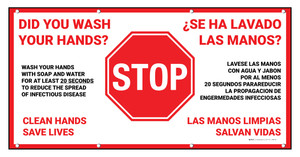 STOP: Did You Wash Your Hands Bilingual Spanish - Banner