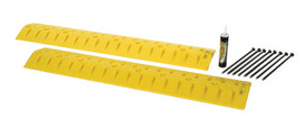Yellow HDPE Speed Bump Cable Guard