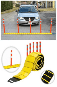 Tapco® Portable Speed Bump with Delineators and Reflectors