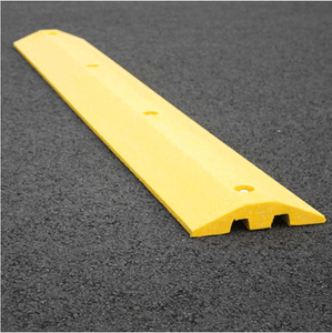 Yellow Speed Bump with Cable Protection & Hardware