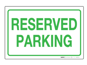 Reserved Parking - Wall Sign
