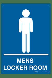 Mens Locker Room - Wall Sign