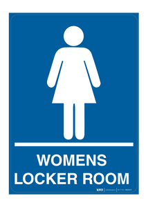 Womans Locker Room - Wall Sign
