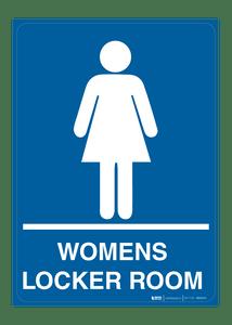 Womans Locker Room - Wall Sign