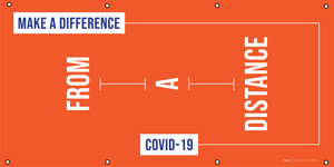 Make A Difference From A Distance - Covid-19 - Banner