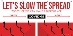 Covid-19 Let's Slow The Spread/Social Distancing - Banner