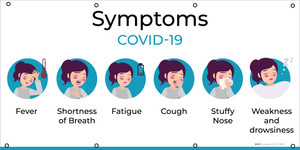 Covid-19 Symptoms with Icons - Banner