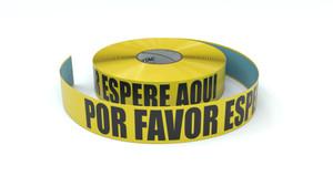 Please Wait Here Spanish - Inline Printed Floor Marking Tape