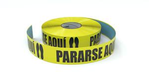 Stand Here Spanish - Inline Printed Floor Marking Tape