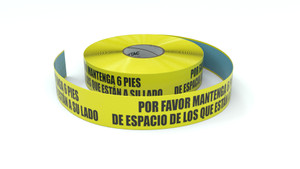 Please Keep 6ft Of Space From Those Next to You Spanish - Inline Printed Floor Marking Tape