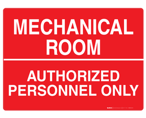 Mechanical Room - Wall Sign