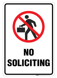 No Soliciting - Wall Sign