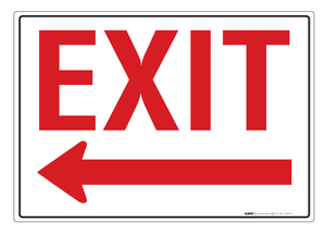 Exit (Arrow Left) - Wall Sign