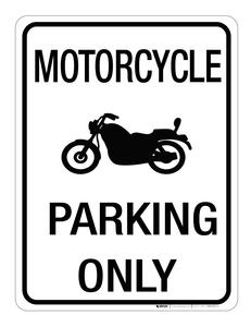 Motorcycle Parking Only - Wall Sign