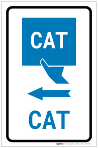 CAT Left Arrow with Icon Portrait v2 - Label