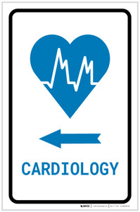 Cardiology Left Arrow with Icon Portrait v2 - Label
