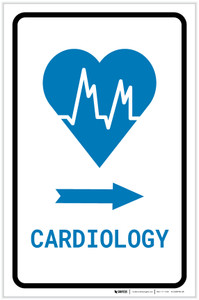 Cardiology Right Arrow with Icon Portrait v2 - Label