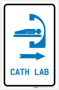 Cath Lab Right Arrow with Icon Portrait v2 - Label