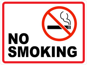 No Smoking/Smoking Prohibited (Wall Sign)