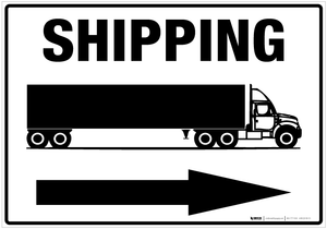 Shipping (Arrow Right) - Wall Sign