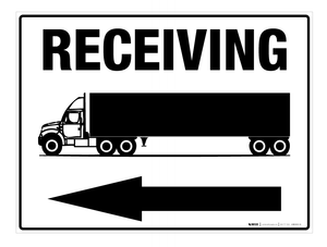 Receiving (Arrow Left) - Wall Sign