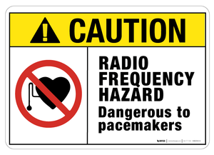 Caution: Radio Frequency Hazard - Wall Sign