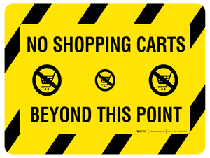 No Shopping Carts Beyond This Point – Floor Sign