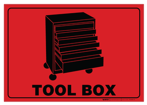 Tool Box - Floor Sign