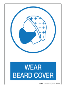 Wear Beard Cover - Wall Sign