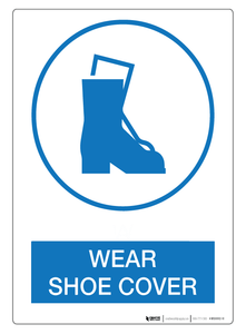 Wear Shoe Cover - Wall Sign