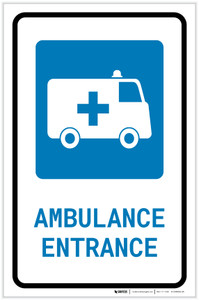 Ambulance Entrance with Icon Portrait - Label