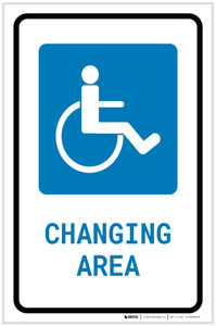 ADA Accessible Changing Area with Icon Portrait - Label
