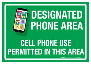 Designated Phone Area – Floor Sign