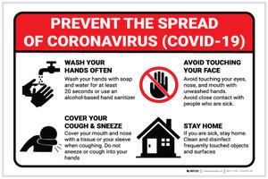 Prevent the Spread of Coronavirus - Label