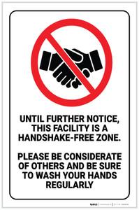Handshake-Free Zone - Label