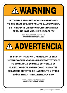 Prop 65 Facility Bilingual (Spanish) - Wall Sign