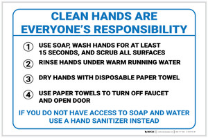 Clean Hands are Everyone's Responsibility - Label