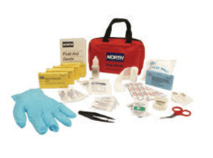 Honeywell North Redi-Care Portable 10-Person First Aid Kit with CPR Barrier