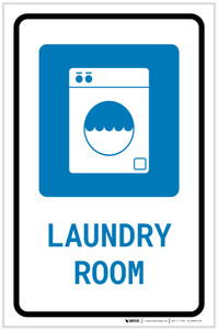 Laundry Room with Icon Portrait - Label