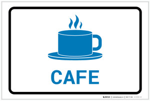 Cafe with Icon Landscape v2 - Label